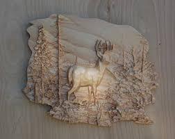 deer wood wall deer wall hanging etsy