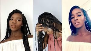 box braids vs individuals individual crochet box braids in 2 hrs no cornrows youtube