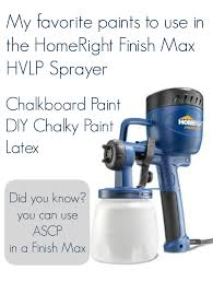 best paints to use with the finish max sprayer homeright