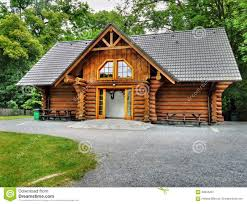 wooden holiday cabin log house stock photo image 59604287