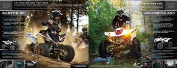 2010 yamaha sport atv yzf450 raptor 90 250 700 wolverine 450 catalog