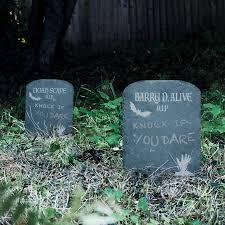 gravestone halloween decorations halloween garden slate tombstone decoration by bespoke u0026 oak co