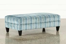 blue and white ottoman aqua ottoman fabric medium rectangle blue storage cvid