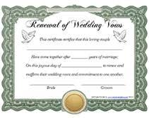 vow renewal program templates free printable renewal of wedding vows certificates templates