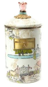large kitchen canisters mackenzie childs canisters aurora enamel canister large eclectic