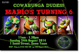 cu1101 tmnt teenage mutant ninja turtles boys birthday invitat