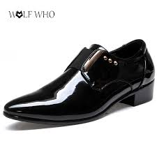 wedding shoes for groom wolfwho men dress wedding shoes glossy patent leather luxury