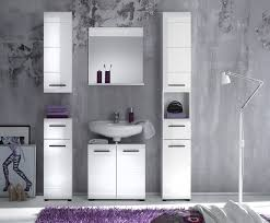 furnline skin high gloss bathroom furniture tall cabinet white
