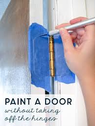 can i spray paint cabinet hinges how to paint a door without taking it the hinges