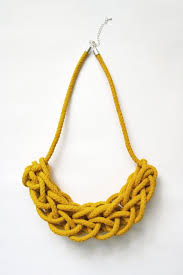 necklace rope images Hearsay designs yellow knitted rope necklace lady knight jpg