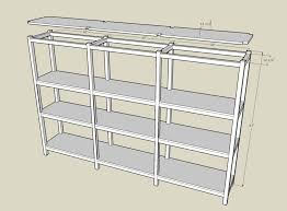 Easy Wood Shelf Plans by Basement Shelf Plans Jan 6 2014 Building A Wooden Storage Shelf In