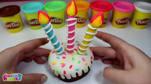 play doh cake how to make birthday cake with play doh food making