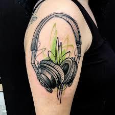 shoulder tattooo tattoo headphones shoulder tattoo tattoo for all new