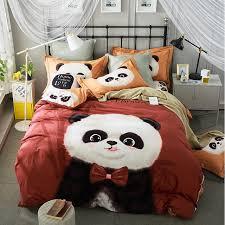 King Size Cotton Duvet Cover Aliexpress Com Buy Cute Cartoon Panda Rabbit Teddy Bear Dog