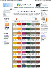 ral colour chart color ch