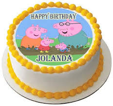 peppa pig birthday cakes peppa pig 2 edible birthday cake or cupcake topper edible prints