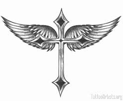 winged cross artists picture tattoomagz