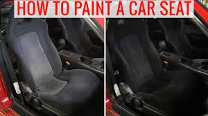 Where To Buy Upholstery Fabric Spray Paint Diy Painting Car Seats To Change The Color How To Tips And