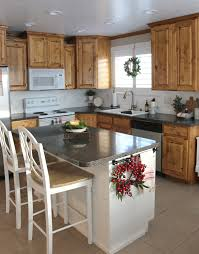 Kitchen Island Makeover Country Home Kitchen Island Planking And Paint Makeover