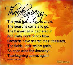 fcf following thanksgiving poem