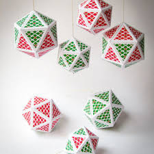 diy ornaments set of 7 from paperica on etsy diy