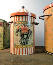 circus canister set w monkeys u0026 elephant antique art tin metal