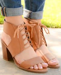 soda open toe ankle cuff lace up chunky heel sandals u2013 chica u0027s