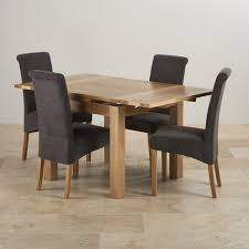dorset oak 3ft dining table with 4 charcoal chairs