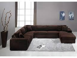 canapé panoramique tissu canapé 7 places en tissu chocolat ou gris muse