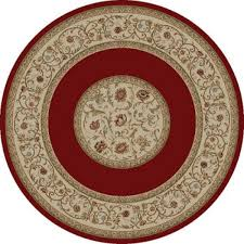 Floral Round Rugs Concord Ankara Floral Border Round Traditional Rectangle Area Rug