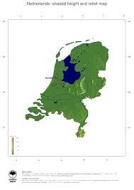 netherlands height map map netherlands ginkgomaps continent europe region netherlands