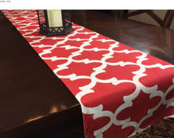 Kitchen Table Runners by Red Table Runner Etsy