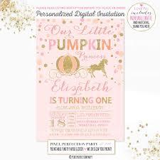 pumpkin invitation our little pumpkin birthday invitation