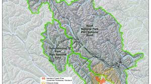 Wildfire Map National by Verdant Creek Fire 4 100 Hectares Parks Canada Local News