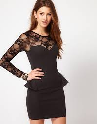 long sleeve short dresses for girls for party functions