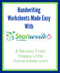 homemade handwriting worksheets made easy startwrite 6 0 review