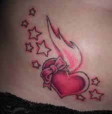 heart tattoos with stars jpg