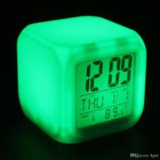 afficher l heure sur le bureau acheter cube glowing led colors modification des réveils