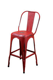 Rustic Furniture And Home Decor by Red Metal Cafe Bar Stool Mexican Rustic Furniture And Home Decor
