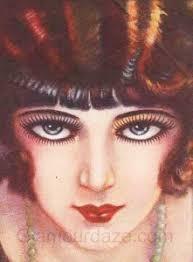 clara bow 1920s makeup look