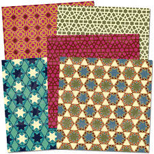 Scrapbook Paper Packs Digital Scrapbook Paper Pack Moroccan Mosaic Patterns Instant