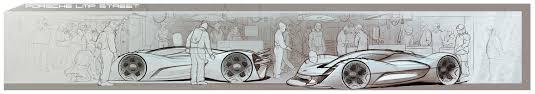 porsche cartoon drawing porsche lmp on behance