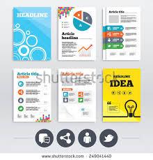 social media brochure template brochure design a4 flyers social media stock vector 249041440