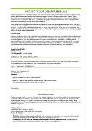 project coordinator resume project coordinator resume sle best format