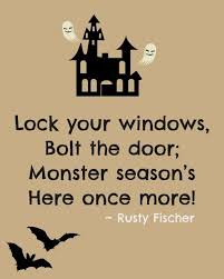 monster season a halloween poem words for halloween
