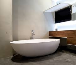 bathroom design charming guest bathroom idea oval mirror corner