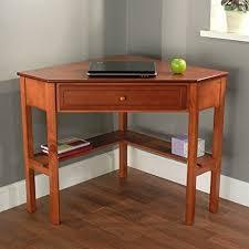 Wood Computer Desk For Home Amazon Com Cherry Wood Corner Computer Desk This Laptop Desk Is