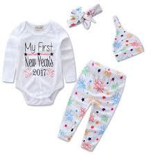 new year baby clothes my new year baby kid girl clothes romper 4pcs
