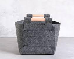 large storage basket gray storage basket felt storage bin