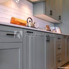 grey kitchen cupboards with black worktop photo square kitchen cabinets with white countertop black